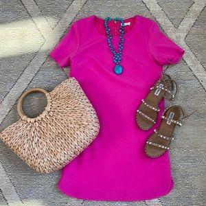 ✈️💕🌴  Pink Cap Sleeve Sheath Dress - XS